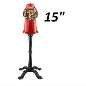 OLD FASHIONED GUMBALL MACHINE WITH STAND - 15