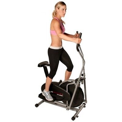NEW CONFIDENCE FITNESS 2-IN-1 ELLIPTICAL CROSS TRAINER & EXERCISE BIKE