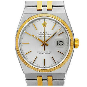 ROLEX-MENS-TWO-TONE-OYSTERQUARTZ-DATEJUST-WHITE-DIAL-WATCH