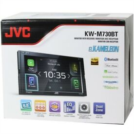 BRAND NEW JVC KW-M730BT Double Din Apple Carplay & Android Auto Headunit
