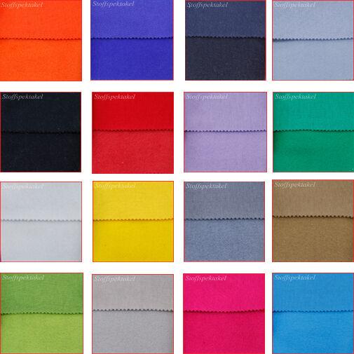 Nickistoff Nicki Ökofex Meterware 20 Farben Auswahl