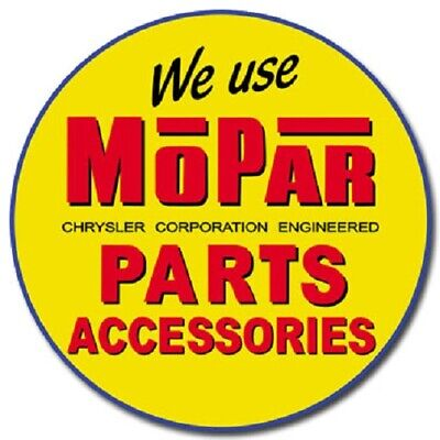 Mopar Parts and Accessories Chrysler Muscle Round Retro Vintage Metal Tin Sign