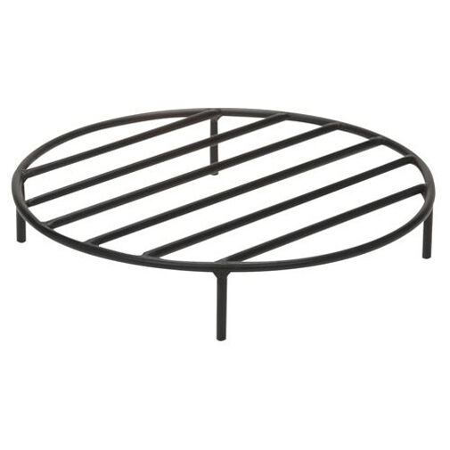 "Round Elevated Outdoor Fire Pit Grate - 1/2"" Steel Construct"