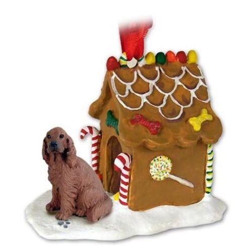 Irish Setter Dog Ginger Bread House Christmas ORNAMENT