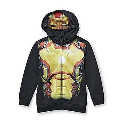 Black Iron Man Halloween Costume (IRON MAN Boys Costume Hoodie HALLOWEEN Hooded Sweatshirt AVENGERS Marvel)