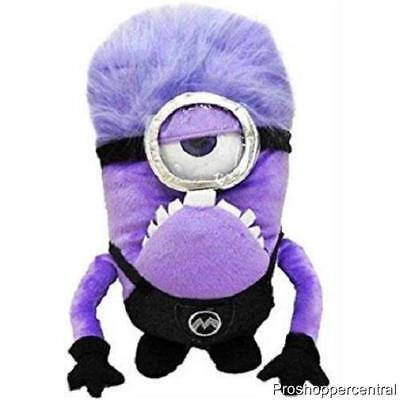 NEW Despicable Me Minions Purple Evil Stuart Plush Backpack, 13