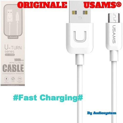 CAVO CAVETTO USB ORIGINALE USAMS® PER SAMSUNG GALAXY S2 S3 S4 S5 RICARICA VELOCE