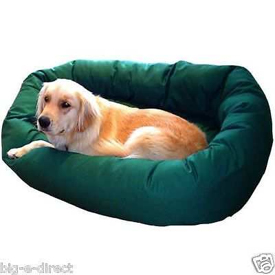 "GREEN - Donut Bagel Animal Pet Dog Bed - 52"" Extra Large 360° Bolster Cushion"