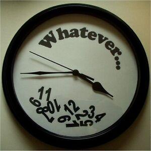 WHATEVER Novelty Clock - New LQQK
