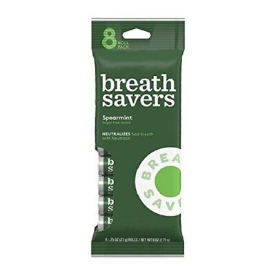 Breath Savers Mint Candy - Breath Savers Spearmint Mints Sugar Free Mint Candy 8 Roll Bag