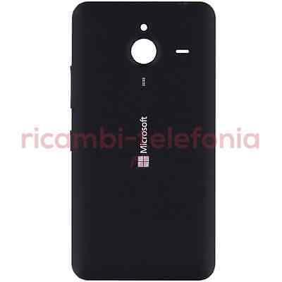 scocca posteriore originale Microsoft Lumia 640 XL nero back cover copribatteria