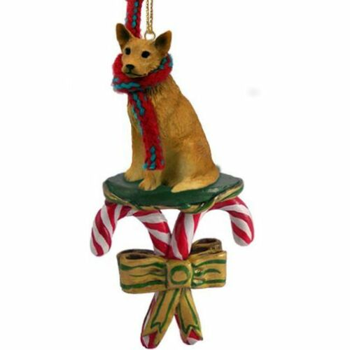 Australian Cattle Dog Brown Dog Candy Cane Christmas Tree ORNAMENT