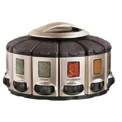Rotating Spice Organizer Herb Salt Jar Storage Rack Holder Shelf Cabinet Kitchen