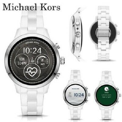 Michael Kors Access Gen 4 Runway White Ceramic Touchscreen SmartWatch MKT5050J