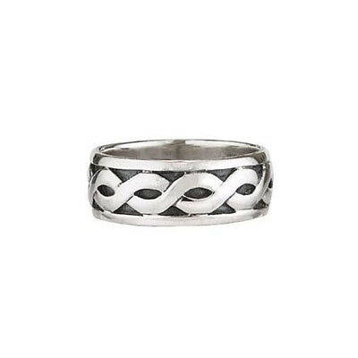 Sterling Silver Celtic Knot Wedding Ring IRISH 9, 10 or 11