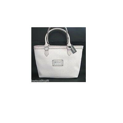 "NEW GUESS PROPOSAL STONE WHITE ""G""+OSTRICH LEATHERETTE SHOULDER+HAND BAG,PURSE"