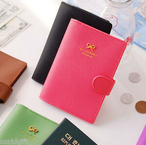 Ribbon-Passport-Case-Cover-Ticket-Card-Holder-Travel-Mini-Wallet-Authentic-Pouch