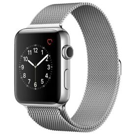 Apple Watch Series 2 - 42mm Stainless Steel with Milanese loop strap