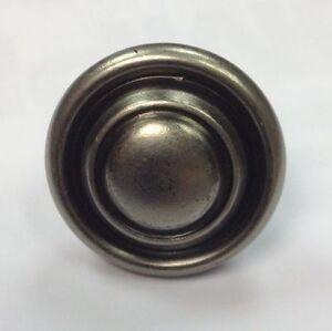 10pk Antique Pewter Effect  Kitchen Cupboard Door Handle Button Knob 32mm
