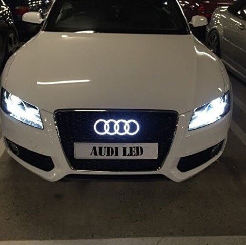 Kupit Audi Kuhlergrill Emblem Led Weiss Auto Zeichen Beleuchtetes Na