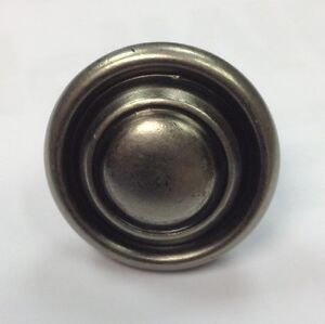 Antique Pewter Effect  Kitchen Cupboard Door Handle Button Knob 32mm