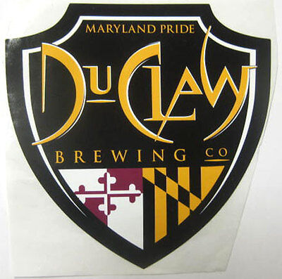DUCLAW BREWING MARYLAND PRIDE 4 in. Beer chevron STICKER w/ MARYLAND Colors 2012