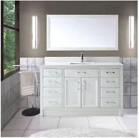 Studio Bathe 60 inch Bathroom Vanity & Mirror - Brand New