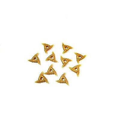LEGO NINJAGO MINIFIGURE WEAPONS GOLD SHURIKEN THROWING STARS NINJA SPINJITZU