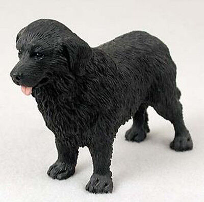 NEWFOUNDLAND DOG Figurine Statue Hand Painted Resin Gift Pet Lovers