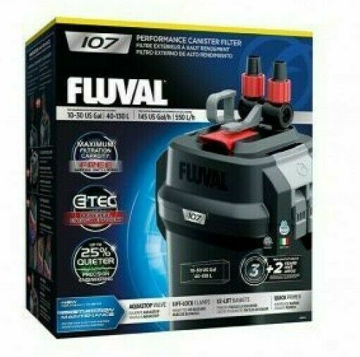 FLUVAL 107 Aquarium Canister Filter All Media included
