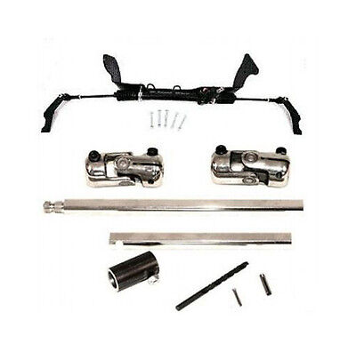 Unisteer 1955-1957 Chevy Car Power Rack + Steering Shaft Kit IN STOCK FAST SHIP