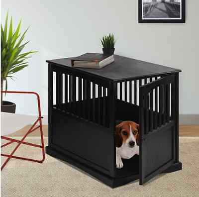 Wooden Dog Kennel Pet Crate Small / Medium Cage Puppy Bed End Table Furniture