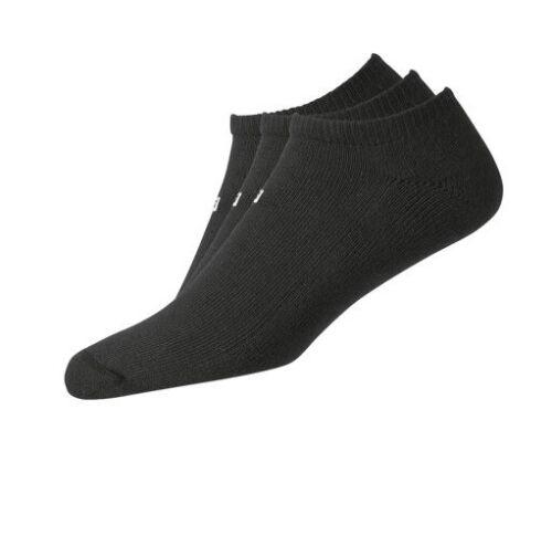 (3) THREE PAIR NEW FootJoy Mens ComfortSof LOW CUT Golf Socks, BLACK, Size 7-12