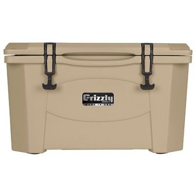 NEW Grizzly G60_T 60QT Cooler with RotoTough Molded Construction - Tan
