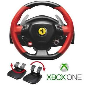 AS-IS THRUSTMASTER FERRARI RACING WHEEL W/PEDALS FOR XBOX ONE