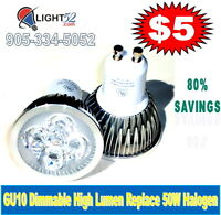 GU10 PAR16 MR16 PAR30 PAR38... DIMMABLE LED 80% SAVINGS