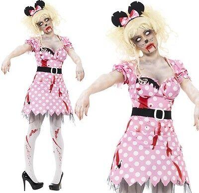 Halloween Damen Zombie Kostüm Maus Nagetier Outfit von - Maus Halloween Kostüm