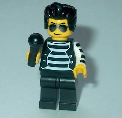 s MUSICIAN Lego Elvis Jail House w/Microphone NEW Authentic Lego parts Xmas