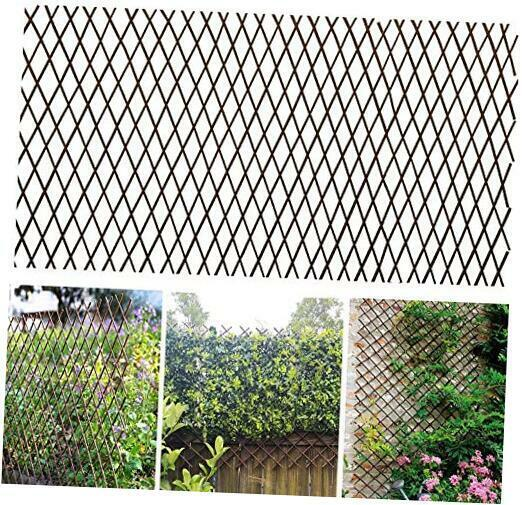 Nature Willow Trellis Expandable Plant Support Plant 1 Willow Wicker Fence