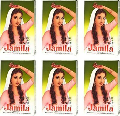 6 PACKS of 100g Jamila Hair Henna Powder Hair Color Mehendi Mehandi Best (Best Henna For Hair Color)