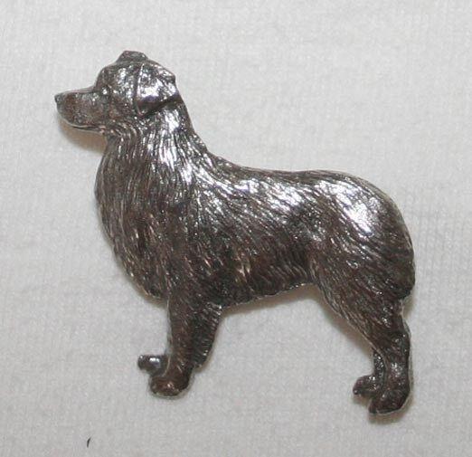 Australian Shepherd Dog Fine PEWTER PIN Jewelry Art USA Made