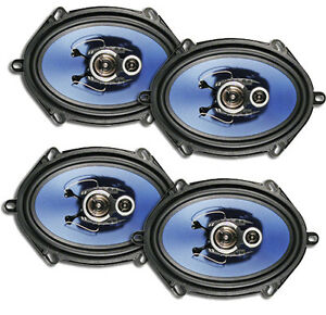2 X PAIRS AXIS 3-WAY 250W SPEAKERS 5x7 INCH FALCON AU BA BF TERRITORY 6X8 AX573