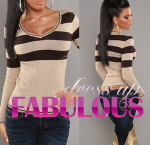 NEW SEXY SIZE 6-8-10 WOMEN'S KNITTED JUMPER TOP SWEATER FOR LADIES EUROPEAN WEAR