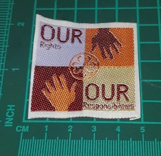 Our Right Our Responsibilities Hand Girl Guide Badge