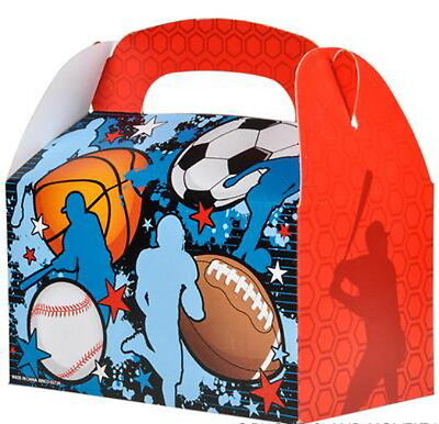 12 SPORTS TREAT BOXES BASKETBALL FOOTBALL SOCCER BASEBALL GOODY TREAT PRIZE BAGS - Basketball Goodie Bags
