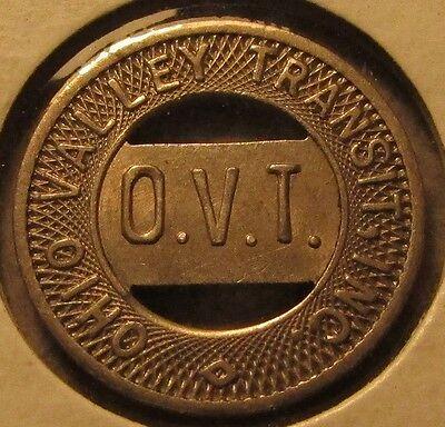 1949 Ohio Valley Transit Inc. Wellsburg, WV Transit Bus Token - West Virginia