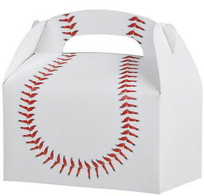 24 BASEBALL  PARTY TREAT BOXES FAVORS GOODY BAG  PRIZE GIFT BASKET - Baseball Goodie Bags