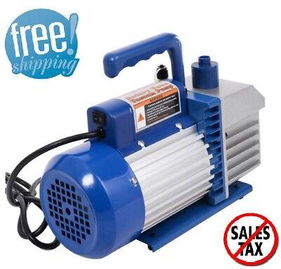 Hvac Vacuum Pump Dual 2 Stage 4cfm 13hp Rotary Vane Deep Ac Air Tool R410a R134