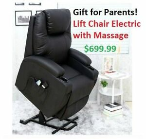 Electric Lift Chair with Massage **NO TAX SALE NEW STOCK **