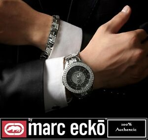 Marc Ecko Mens E20033G3 The King Box Silver Stainless Steel Set Watch